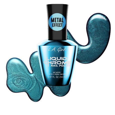 Electric Blue - Liquid Chrome Nail Polish
