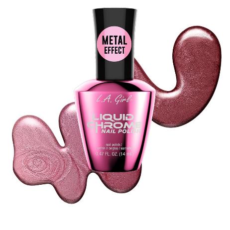 Radiant Rose - Liquid Chrome Nail Polish