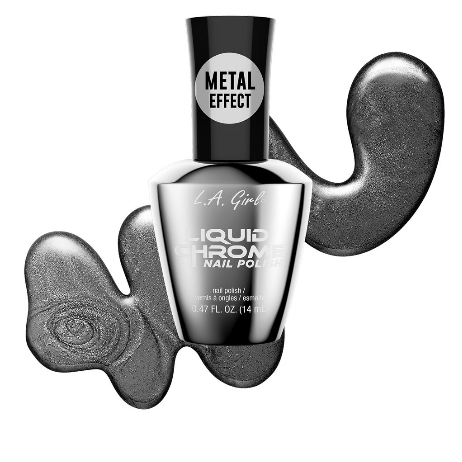 Gunmetal Gray - Liquid Chrome Nail Polish